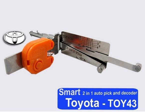 Araba çilingir aracı Akıllı TOY43R 2 in 1 için toyota için otomatik seçim ve dekoder