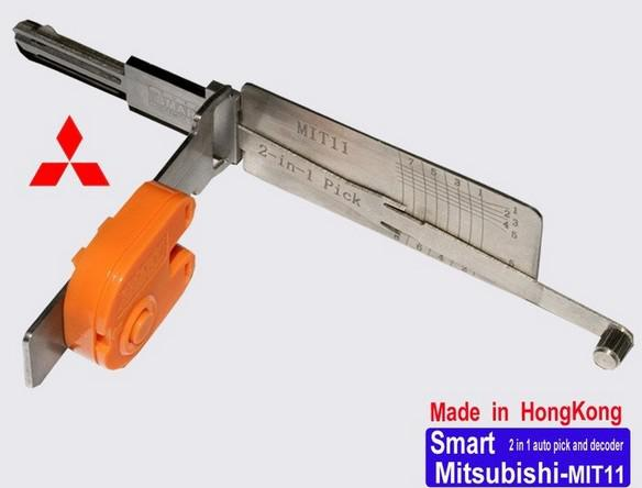 best selling Car locksmith tool Smart MIT11 2 in 1 auto pick and decoder for Mitsubishi