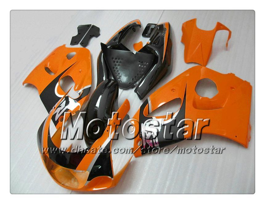 Fajouts de motocycle pour 1996 1998 1999 2000 Suzuki GSXR600 GSXR750 GSXR 600 750 96 97 98 99 Glossy Noir Orange Caréning