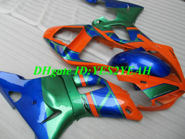 Kit carena YAMAHA YZFR1 YZF R1 2000 2001 YZF-R1 YZR1000 00 01 arancio blu verde Carenature carrozzeria YS20