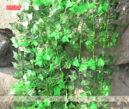 plastic green vines Promo Codes - 96m lot Beautiful Artificial Plants Fake Plants Plastic SweetPotato Vine FZ12-2