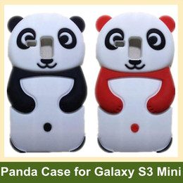 Wholesale Cool Galaxy S3 - Wholesale Cool Animal Panda Case for Galaxy SIII Mini Soft Silicone Cover Case for Samsung Galaxy SIII S3 Mini i8190 15pcs lot Free Ship