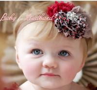 Wholesale Baby Shabby Flower Headbands - Baby headbands Chiffon Shabby Flower Headband for baby photograph 6pcs lot