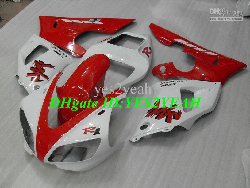 Faiirng Body kit 1998 1999 YAMAHA YZFR1 YZF R1 Carrozzeria YZF-R1 YZR1000 R1 98 99 carenature bianche rosso + regali YS29