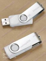 Wholesale pen drive free shipping - 64GB Premium White Swivel USB Flash Memory Drive(Stick Pen Thumb) Free ship 50pcs lot