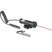 ingrosso fucile tattico laser rosso-Tactical Caccia Mirino Laser Red Dot Sight 11mm / 20mm Rail con Mount 2 Switch per Gun Rifle