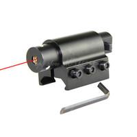 lasersichthalter für gewehr großhandel-Tactical Jagd Gun Red Dot Laser Sehenswürdigkeiten Umfang + Pistole Gewehr Pistole 20mm Berg Kostenloser Versand