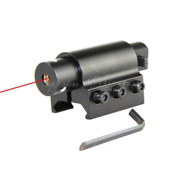 Tactical Hunting Gun Red Dot Laser Scope + Gun Gun 20mm Mount Spedizione gratuita