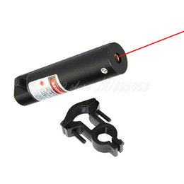 6PCS LOT Tactical Hunting Red Laser Dot Sight Scopes Adjustable Barrel Tube Ring Mount for Rifle Free Shipping