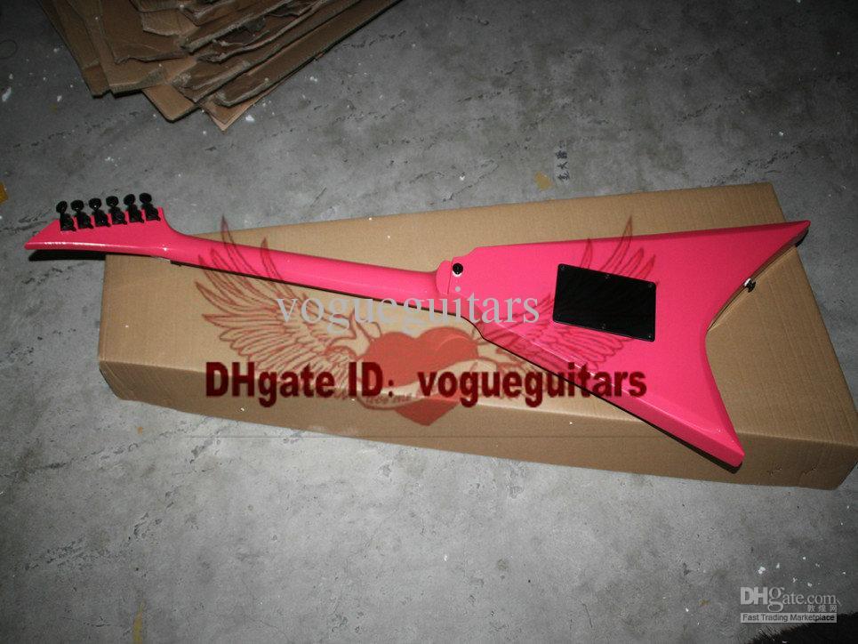 Nuovo arrivo 2013 personalizzato Randy Rhoads RR3 rosa 6 corde chitarra elettrica spedizione