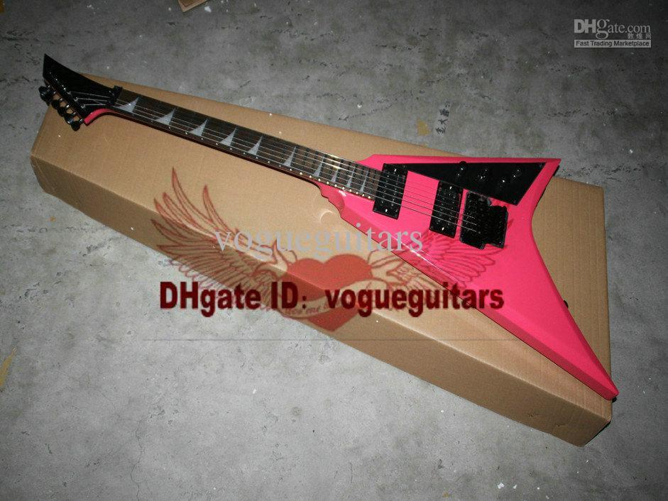 Nueva llegada 2013 personalizado Randy Rhoads RR3 rosa 6 cuerdas envío Guitarra Eléctrica