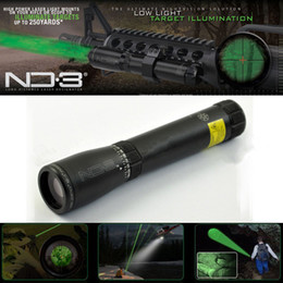 Wholesale Laser Designator For Night Hunting - Drss Green Laser Designator Hunting Flashlight With Adjustable Scope Mounts&Battery&Weaver Mount For Night Searching Hunting Spotting ND3X30