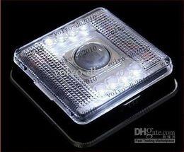 Wholesale Led Light Motion Detector Sensor - 30pcs lot 8 LED Light Lamp PIR Auto Sensor Motion Detector MGXA029