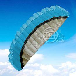 hot sale 2.5 m 2 Line Stunt Parafoil POWER Sport Kite Blue Free Shipping!! on Sale