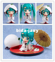 "Wholesale Strawberry Figures - GSC Cute Nendoroid Snow Miku: Strawberry White Kimono Ver.,Hatsune Miku,PVC 3.6"" Animation Figure 303# New In Box Free Shipping"