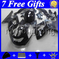 7giftsTank 96-07 Body ALL Black para YAMAHA YZF600R 1996 1997 1998 1999 2000 Thundercat YZF 600R 2004 2005 2006 2007 Gloss Flat Fairings