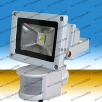 Wholesale Pir Led Floodlight New - MHJA207 10W New PIR Motion sensor LED Floodlight Flood Lights Light Induction Sense lamp 85~265V --