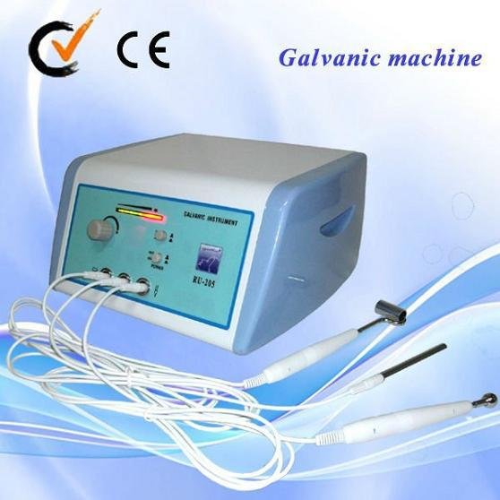 micro Electric mini production at home Galvanic lead in and out cosmetology beauty equipment facial machine with CE approval AU-205
