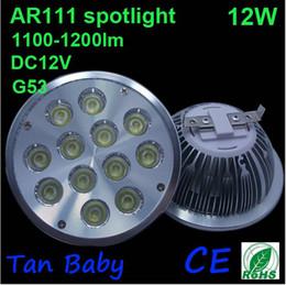 $enCountryForm.capitalKeyWord Canada - Wholesale -Fast Shipping by FEDEX Dimmable 12x1W LED AR111 QR111 ES111 Spot Light Bulb 12W G53 Socket DC12V AC85~265V AR111 LED Spotlight
