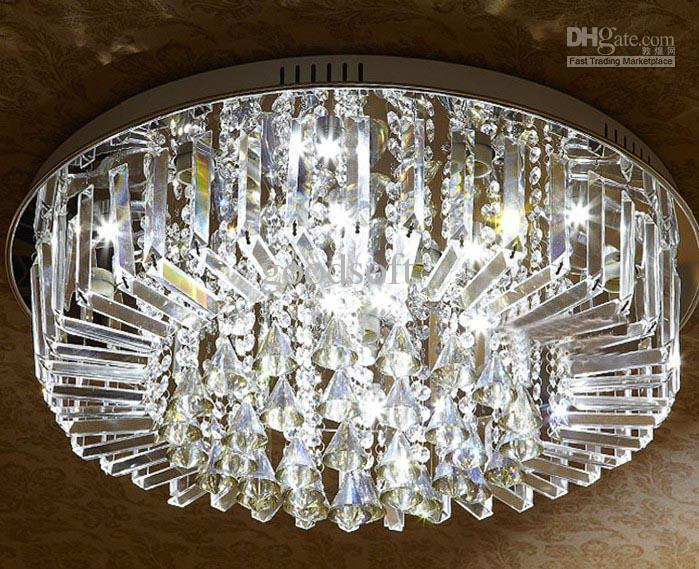 Modern Fashion K9 Crystal Led Ceiling Light Chandelier Hotel Lobby – Led Light Chandelier