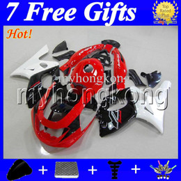 Wholesale Yamaha Yzf Thundercat Fairing - 7gifts+TankFor YAMAHA Thundercat YZF600R 96-07 YZF 600R NEW Red MK27 YZF-600R 96 97 98 99 00 01 02 03 04 05 06 07 black white Fairing Kit