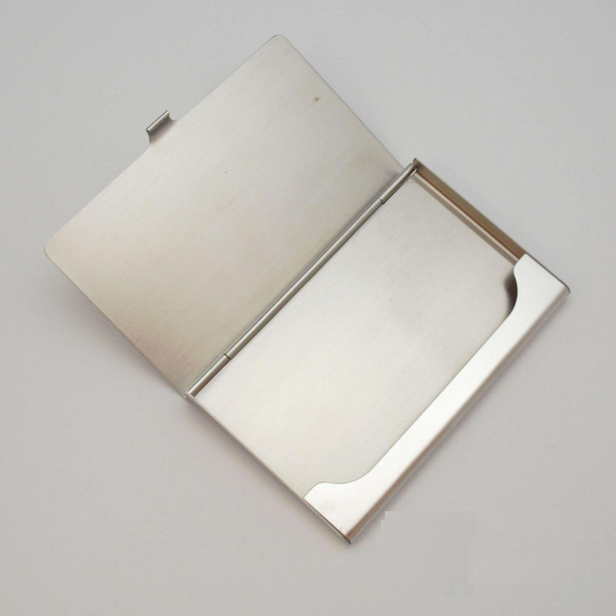 hot selling stainless steel metal mirror business name card holder