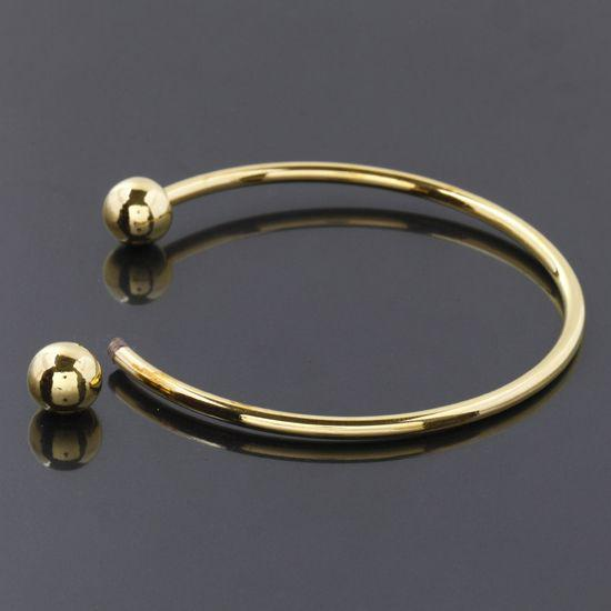 Wholesale - HOT DIY 15-16cm Gold Plated SCREW END CUFF CHARM BRACELET BANGLE FIT HOLE BEADS Jewelry Findings