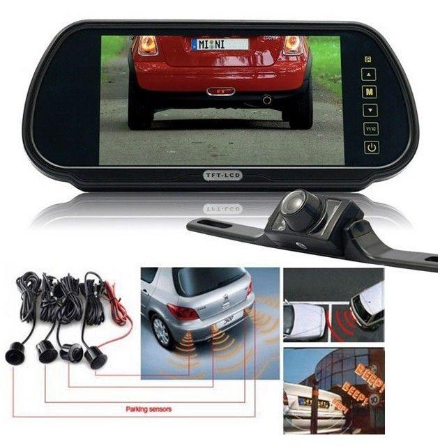 7 Inch In Car Rear View Mirror Lcd Monitor Parking Sensor