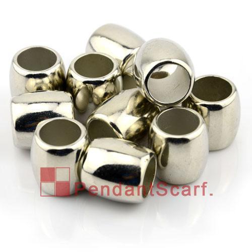/ popolari accessori sciarpa fai da te gioielli brillano argento placcato CCB forma ovale scivolare tubo di barre, trasporto libero, AC0071