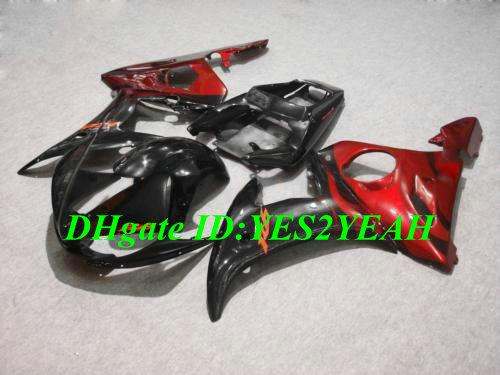 Carenado para YAMAHA YZFR6 2003 2004 2005 YZF R6 YZF600 R6 03 04 05 carenados negro rojo brillante conjunto + regalos YD25