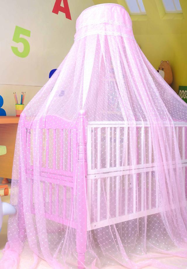Tokkids moustiquaire pour lit de b/éb/é 125 x 68 x 62 cm support en fil dacier pink