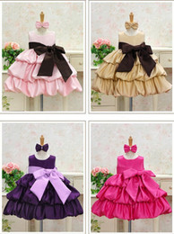 Pink Tutu Photography Canada - 5PCS Summer Baby Girls High-grade Princess Sleeveless Layered Dresses Children Bowknot Dance Skirt - Wedding Party, Graduation,Photography