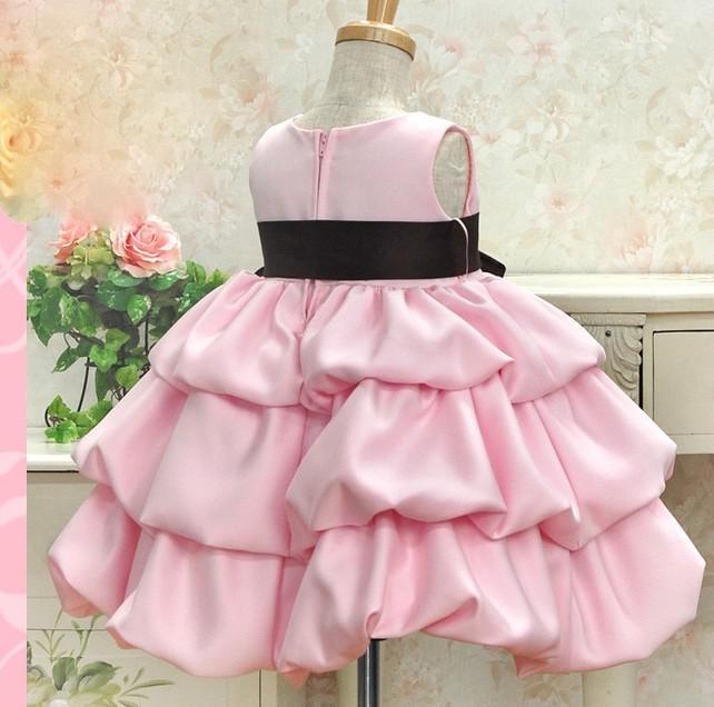 Summer Baby Girls High-grade Princess Sleeveless Layered Dresses Children Bowknot Dance Skirt - Wedding Party, Graduation,Photography