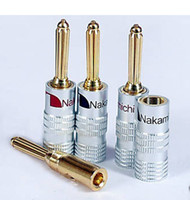 Wholesale Speaker Socket - 10pcs Nakamichi Speaker banana plugs 24K GP Plated connector Free Shipping