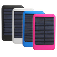 Wholesale Solar Panel Bank Power - free shipping high quality full power bank 5000mah solar panel charger External Battery for iphone 5, samsung S4