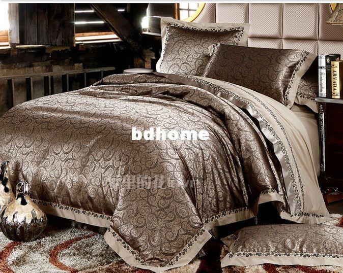 Luxury Silk Bedding Red Wedding Comforter Sets King Queen Size Orange Comforter  Set Hot Sale Bed Linen/Coverlet Comforter Sets For Cheap Bedding Sets ...