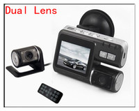 Wholesale Dual Lens Car Dashboard Camera - HD 1280x720P Dual Lens H.264 rearview parking camera car DVR Dashboard Car vehicle Camera Video Recorder DVR CAM G-sensor H150