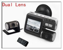 Wholesale Dual Camera Vehicle Recorder Car - HD 1280x720P Dual Lens H.264 rearview parking camera car DVR Dashboard Car vehicle Camera Video Recorder DVR CAM G-sensor H150