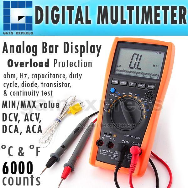 Best Vc 99 Professional Digital Multimeter Tester Fc Thermometer K