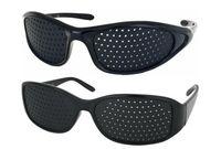 Wholesale plastic pinhole glasses - Unisex Pinhole Glasses Improving Eyesight Vision Eye Strain in Reading PC Screen
