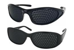 Unissex Pinhole Óculos Melhorar Visão Eye Strain Eye em Reading PC Screen