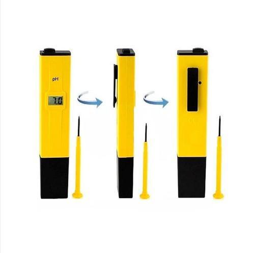 Medidor digital de bolsillo, medidor de pH, pluma de prueba, para el acuario de la piscina, laboratorio de agua