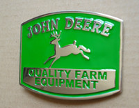 Wholesale car buckle belts - Green color deere Nothing runs like a deere BELT BUCKLE SW-505,Free shipping