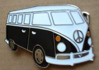 Wholesale Signs Bus - CARAVAN CAMPER VAN BUS VW PEACE SIGN CAR BELT BUCKLE SW-B455,Free shipping