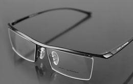 Wholesale Cheap Black Eyeglass Frames - mens alloy and TR90 eye glass frames black or Silver color men eyeglasses sports half optical frame drop shipping cheap eyeglasses