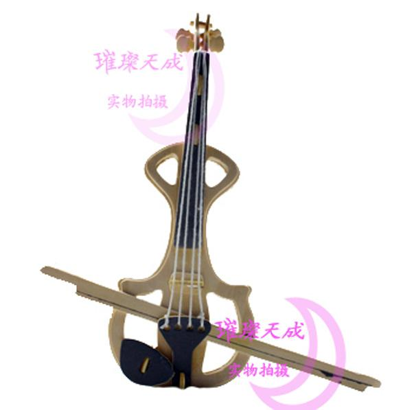 2018 Violin 3d Puzzle Wooden Jigsaw Diy Musical Instruments Model Woodcraft Construction Kit ...