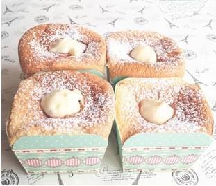 Coppa da forno British Retro / Color Stripe / Classico Blu Dot Lace Square CakeCup Cakecup Cake Tazza tazza tazza di muffin