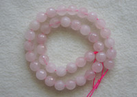 Brand New 10 milímetros Natural Rose Quartz Crystal Faceted Round Loose Beads 15.3inch Frete Grátis