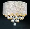 Modern Fashion Foyer Galaxy K9 Crystal Fabric Ceiling Light Chandelier Living Room Lamp D400mm H360mm