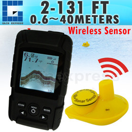 Wholesale Wireless Fishing - FF-718Li-W Rechargeable Battery Waterpoof Wireless Fish finder 0.6-40M ( 2-131ft ) Sensor 125kHz Sonar Frequency Bottom Contour